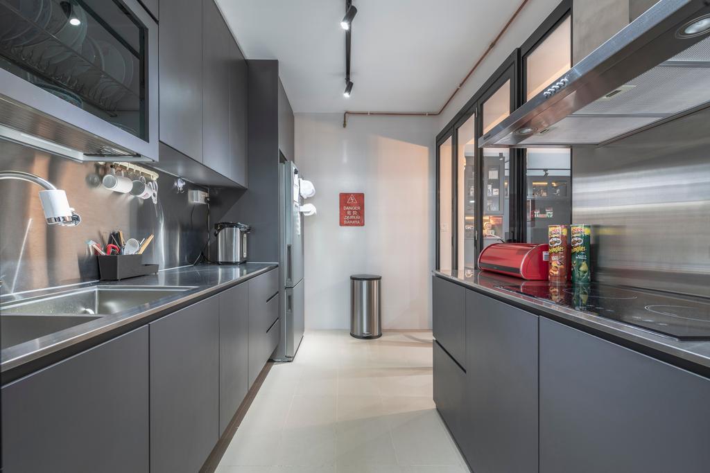 Contemporary, HDB, Kitchen, Buangkok Crescent, Interior Designer, Butler Interior