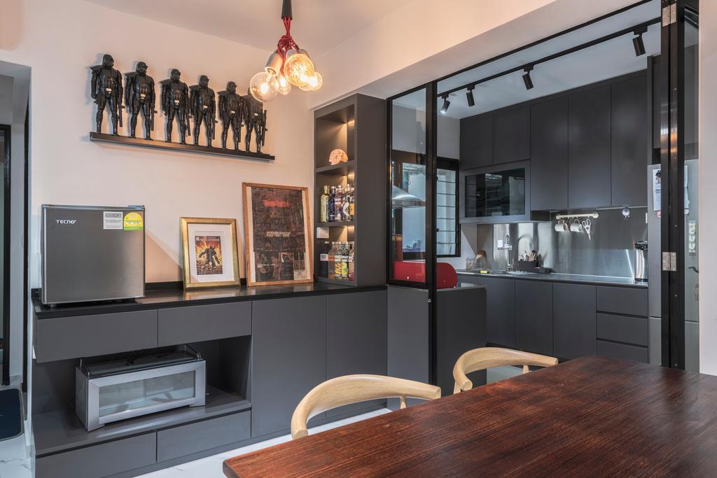 Contemporary, HDB, Dining Room, Buangkok Crescent, Interior Designer, Butler Interior