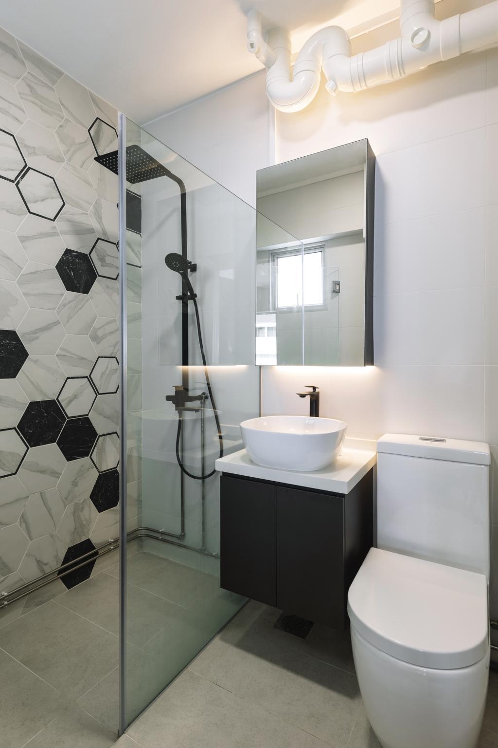 Contemporary, HDB, Bathroom, Joo Seng Road, Interior Designer, Willis Design