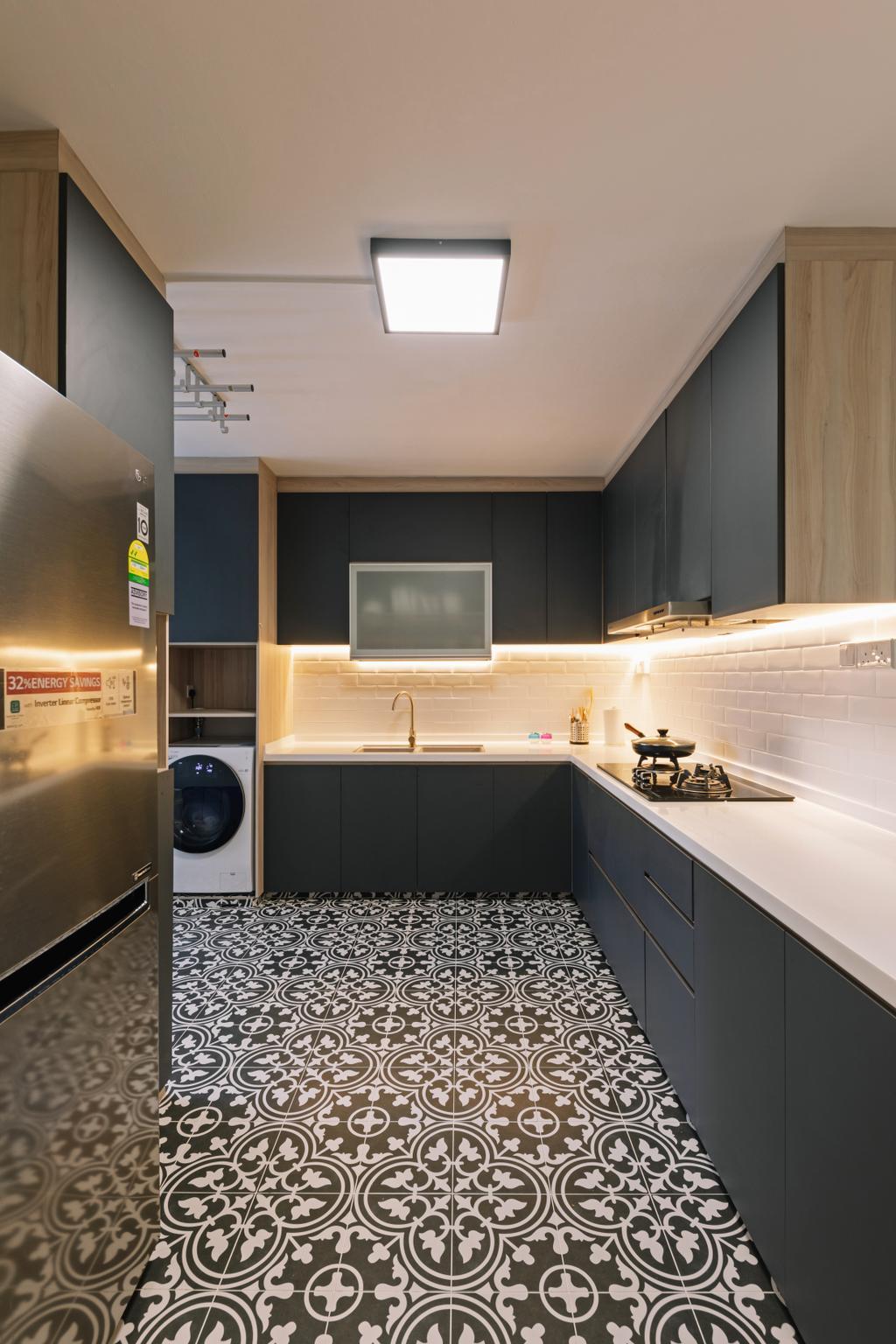 Contemporary, HDB, Kitchen, Joo Seng Road, Interior Designer, Willis Design