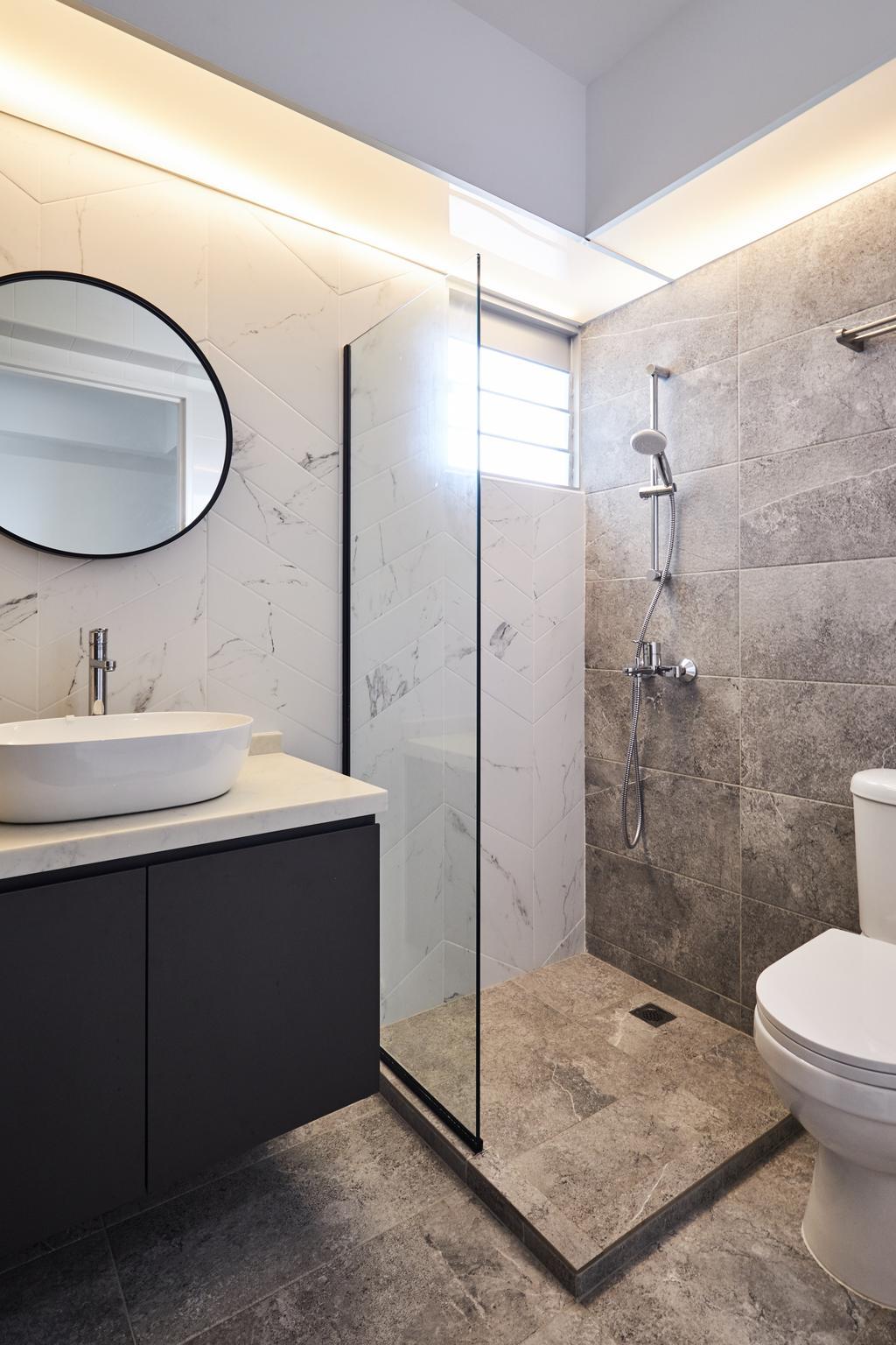 Contemporary, HDB, Bathroom, Telok Blangah, Interior Designer, Rockin Spaces