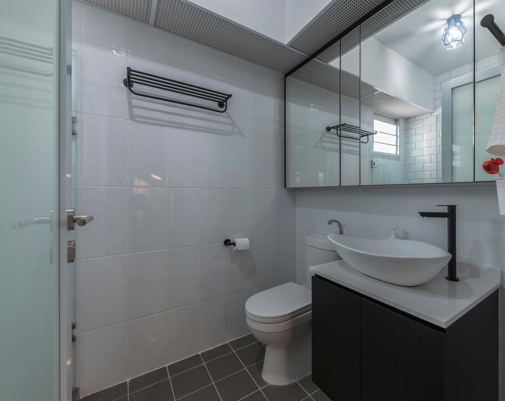 Scandinavian, HDB, Bathroom, Sembawang Crescent, Interior Designer, Meter Square