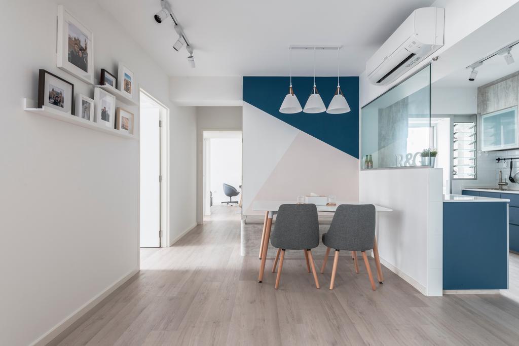 Scandinavian, HDB, Dining Room, Sembawang Crescent, Interior Designer, Meter Square