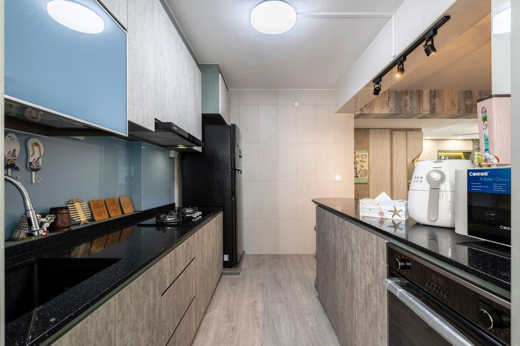 Eclectic, HDB, Kitchen, Sumang Lane, Interior Designer, Z House Interior Design