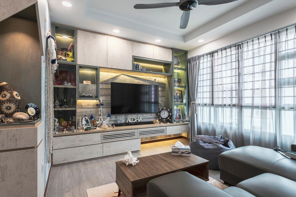 Eclectic, HDB, Living Room, Sumang Lane, Interior Designer, Z House Interior Design