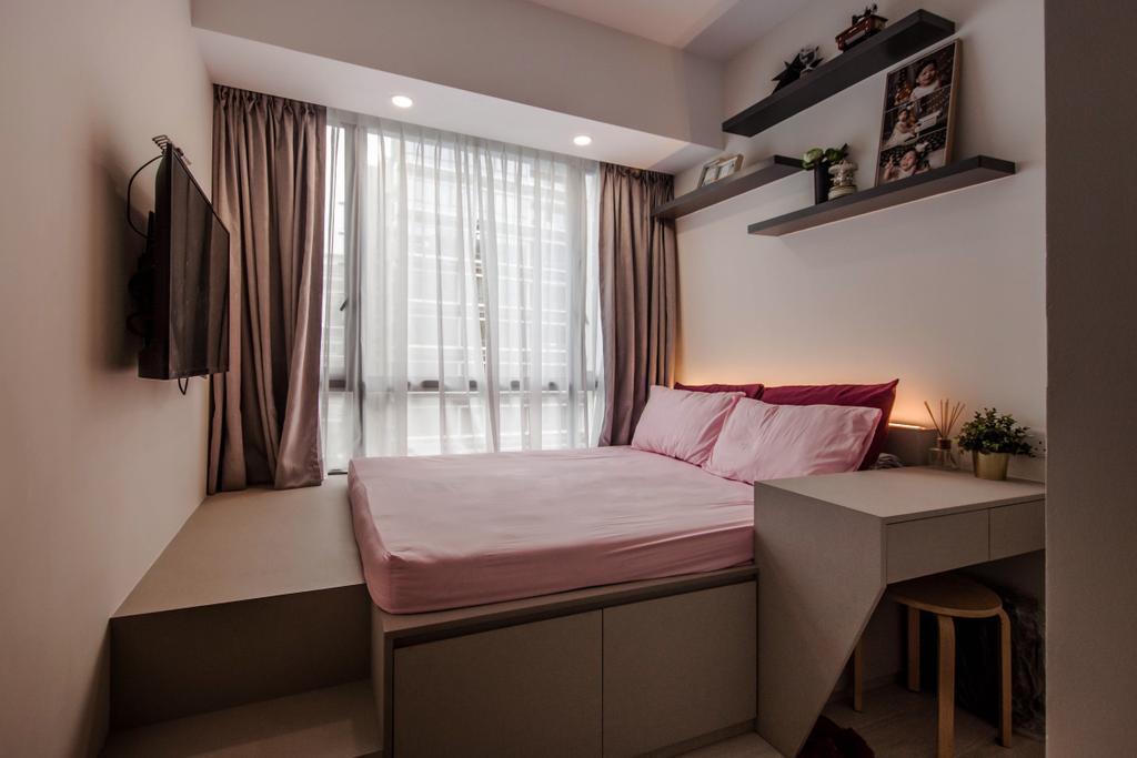 Contemporary, Condo, Bedroom, D'Nest, Interior Designer, Space Atelier