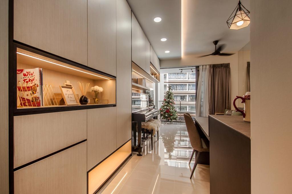 Contemporary, Condo, Living Room, D'Nest, Interior Designer, Space Atelier