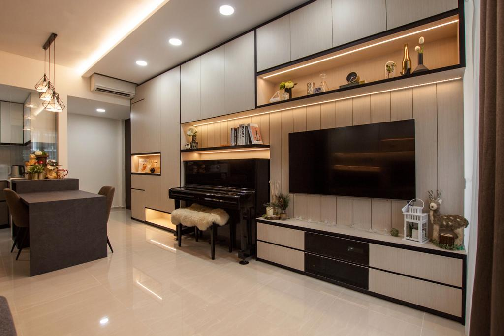 Contemporary, Condo, Living Room, D'Nest, Interior Designer, Space Atelier