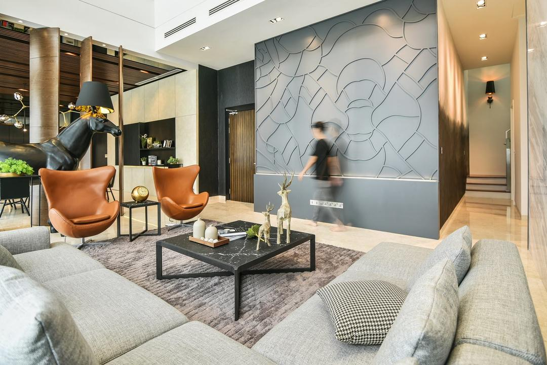 Icon Residence, Mont Kiara Living Room Interior Design 4