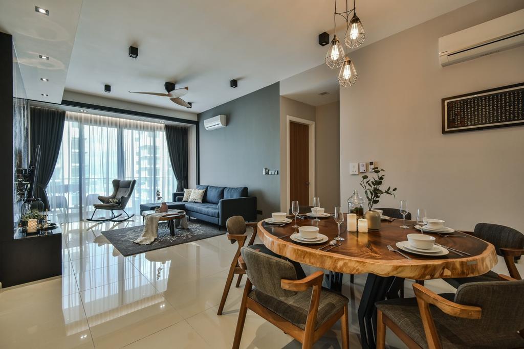 Contemporary, Condo, Dining Room, Anjali Residence, Kuala Lumpur, Interior Designer, IQI Concept Interior Design & Renovation