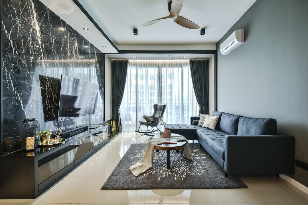 Anjali Residence Living Room Interior Design 4