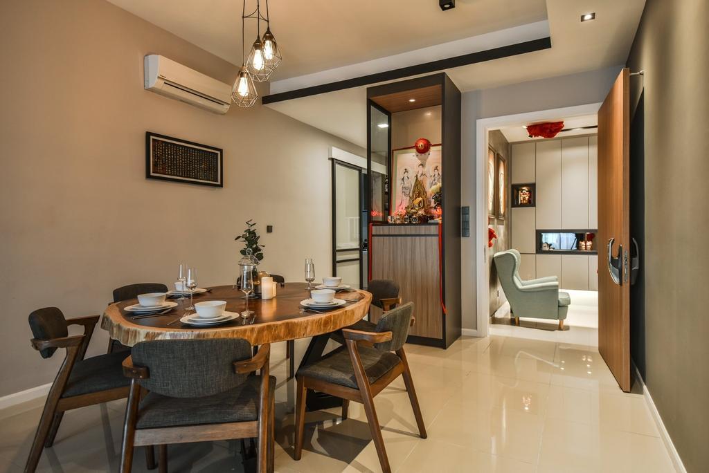 Contemporary, Condo, Dining Room, Anjali Residence, Kuala Lumpur, Interior Designer, IQI Concept Interior Design & Renovation, Altar