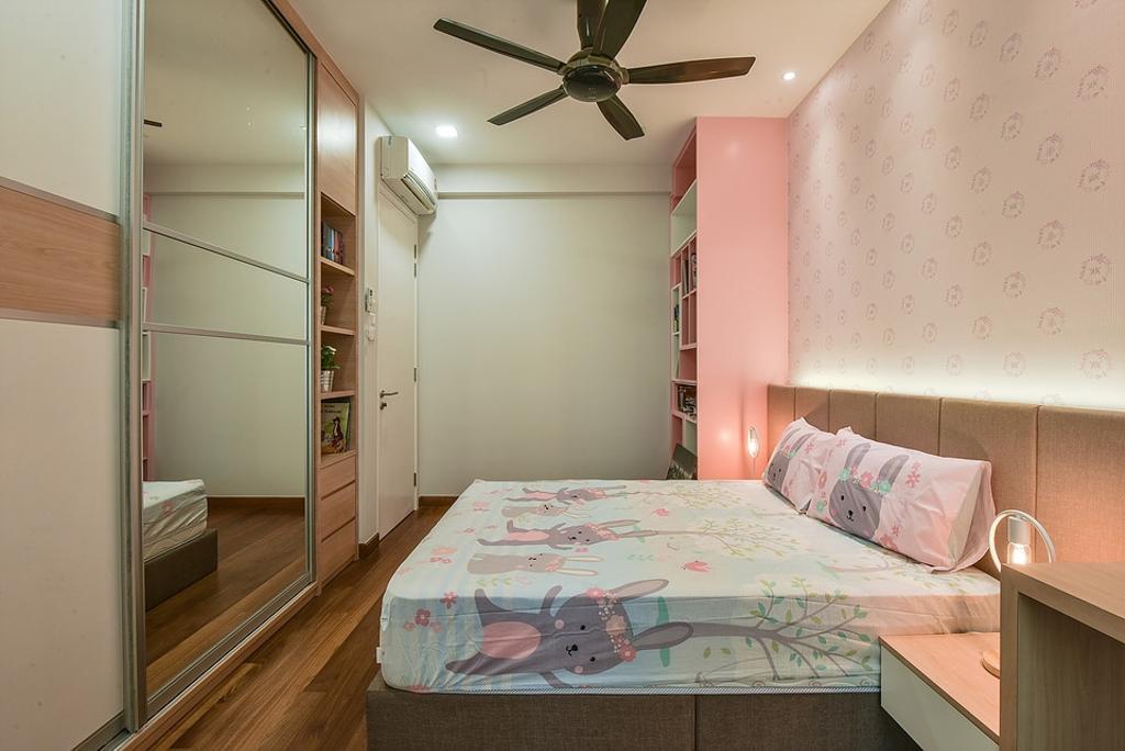 Modern, Landed, Bedroom, Scenaria Super Link, Interior Designer, IQI Concept Interior Design & Renovation, Minimalistic, Kids Room