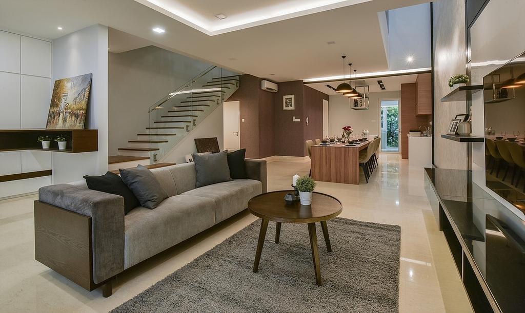 Modern, Landed, Living Room, Scenaria Super Link, Interior Designer, IQI Concept Interior Design & Renovation, Minimalistic