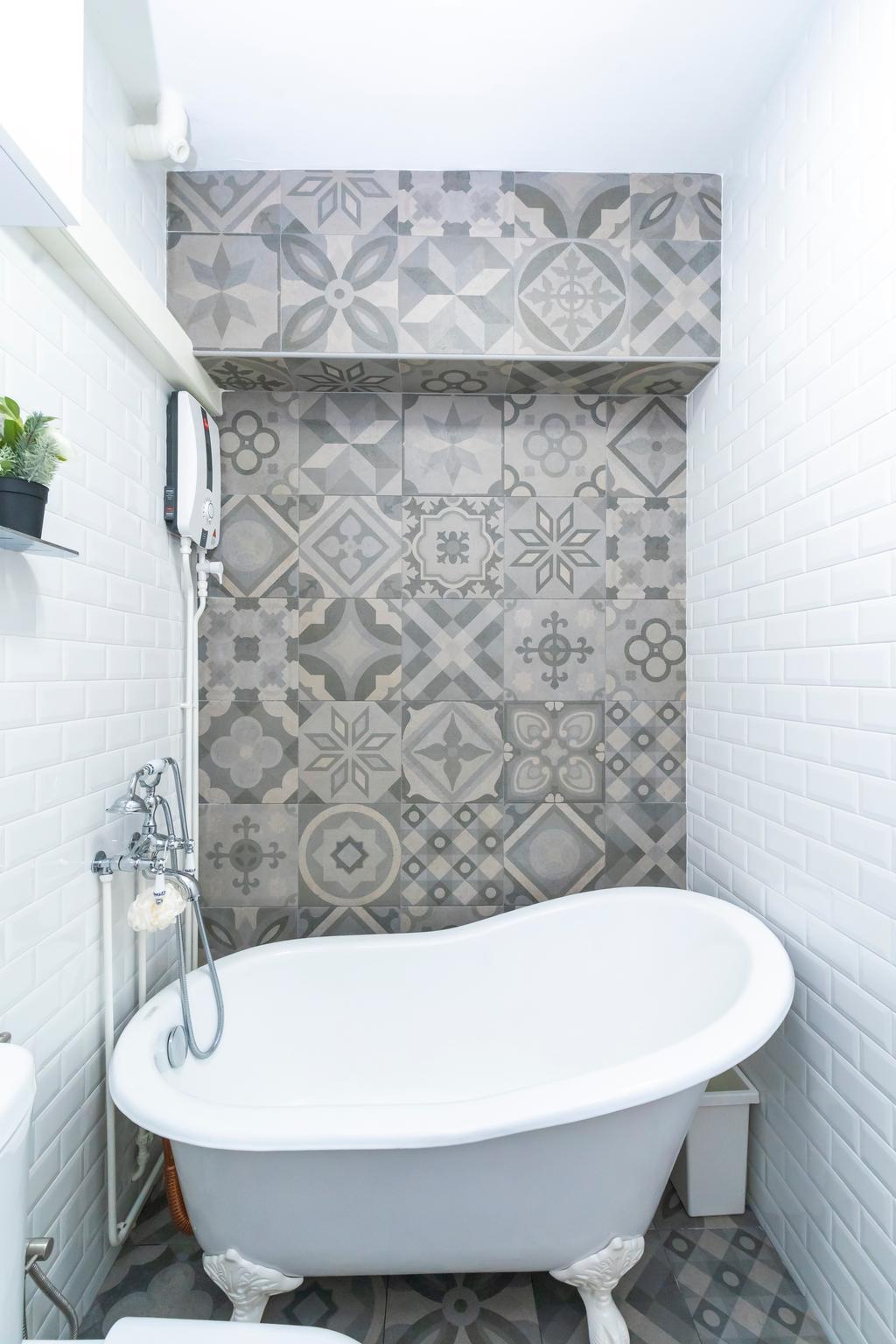 Contemporary, HDB, Bathroom, Cantonment Close, Interior Designer, Renex Interior