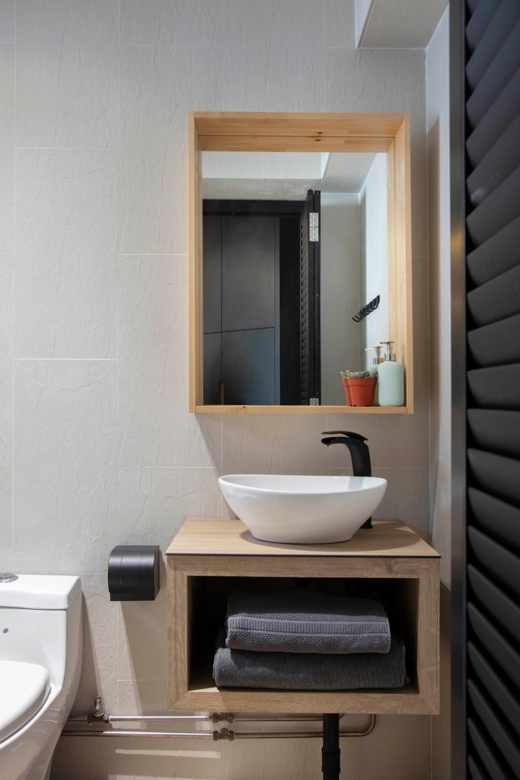 Contemporary, HDB, Bathroom, Rivervale Drive, Interior Designer, ARK-hitecture