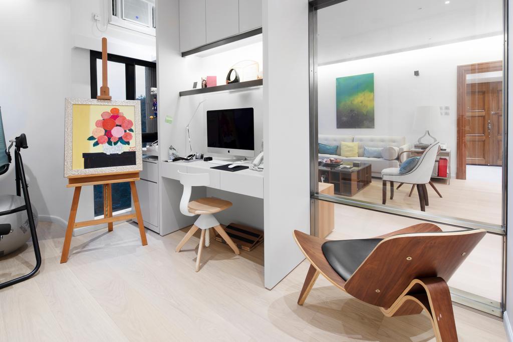 私家樓, 書房, 雅柏苑, 室內設計師, Ash Studio