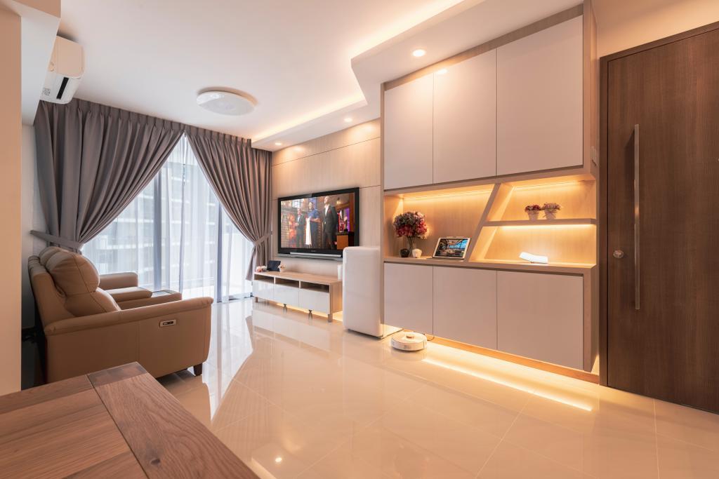 Scandinavian, Condo, Living Room, Treasure Crest, Interior Designer, Starry Homestead