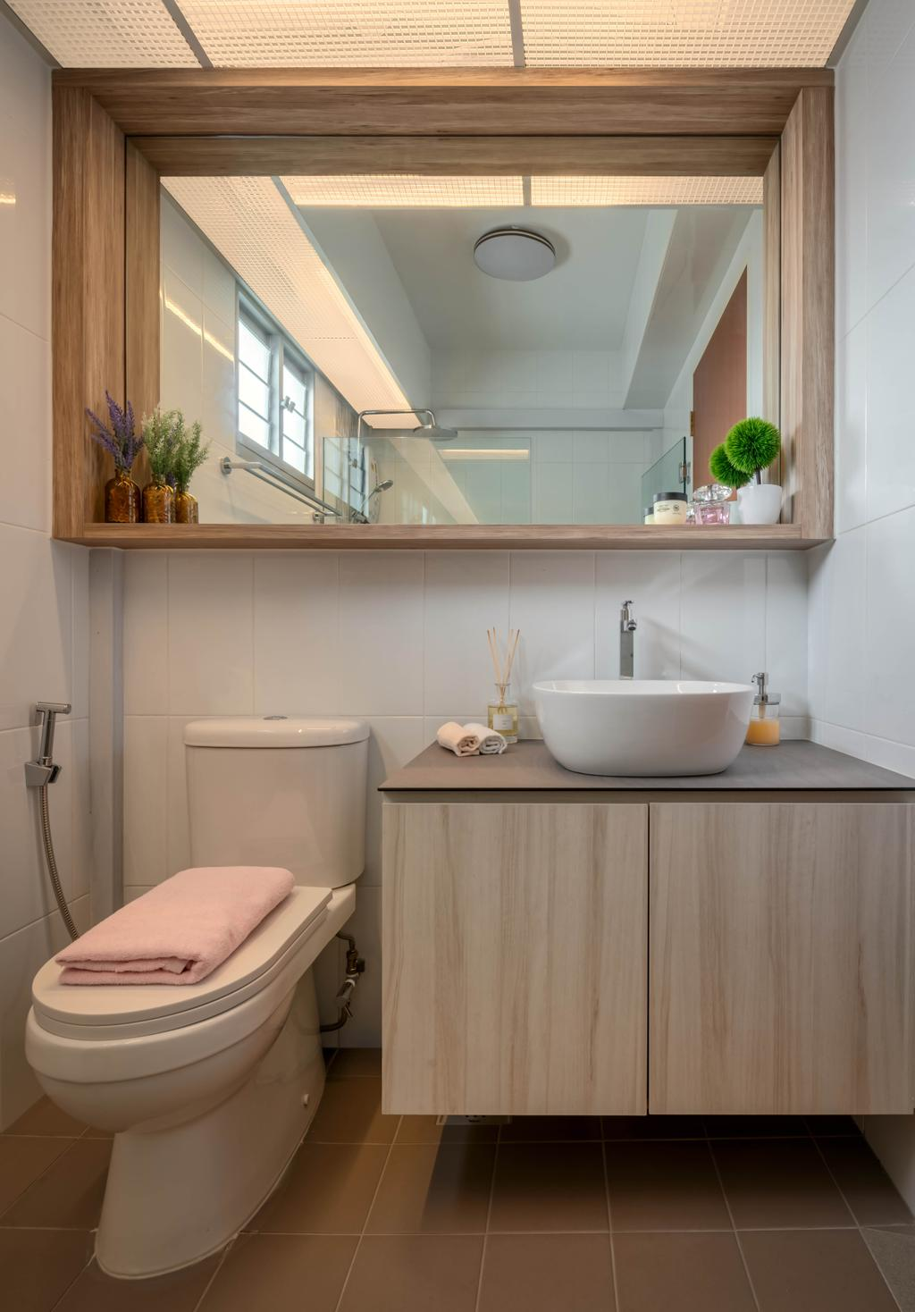 Contemporary, HDB, Bathroom, Henderson Road, Interior Designer, Zenith Arc, Scandinavian
