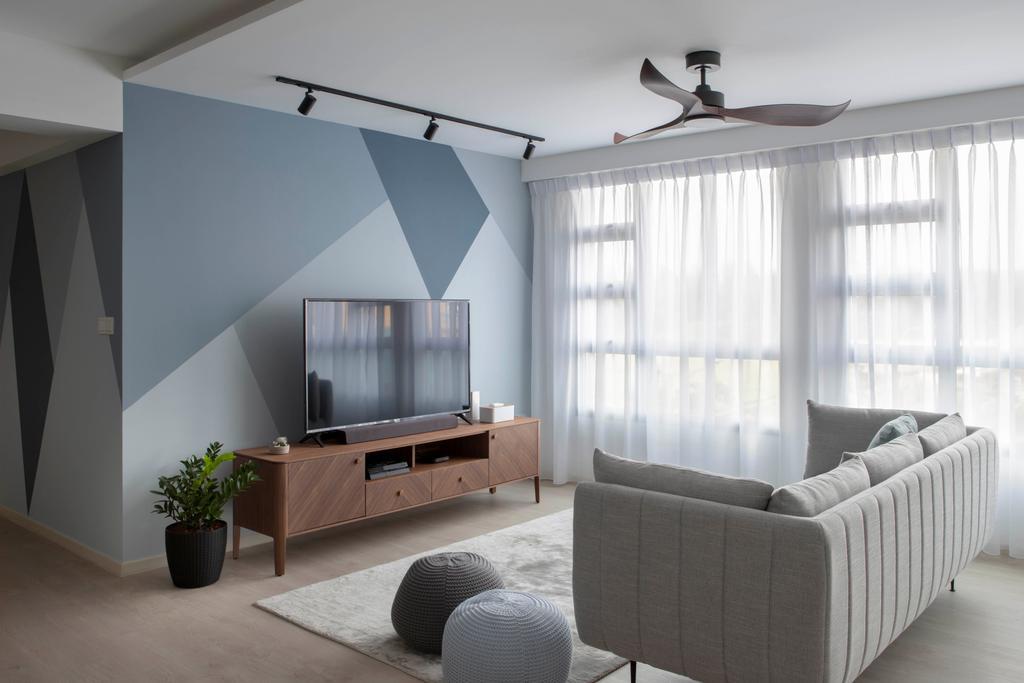 Contemporary, HDB, Living Room, Sumang Lane, Interior Designer, Adroit ID