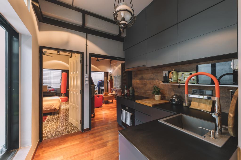 Contemporary, HDB, Kitchen, Seng Poh Road, Interior Designer, Azcendant, Transitional