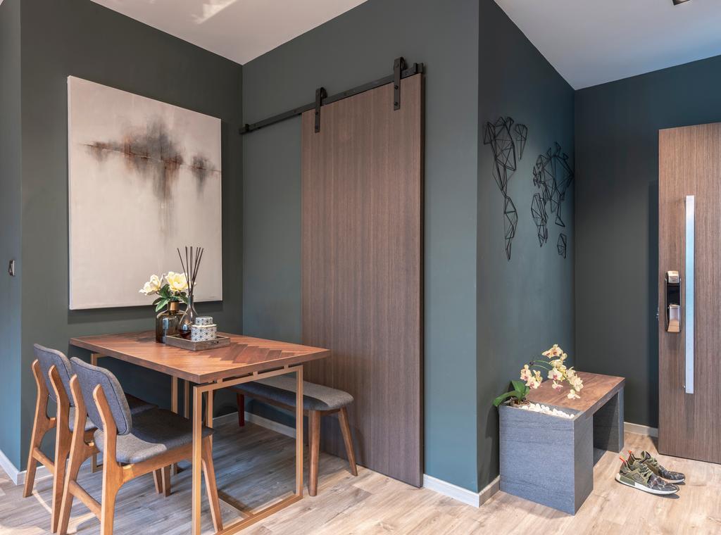 Contemporary, Condo, Dining Room, Hillbre 28, Interior Designer, Space Define Interior