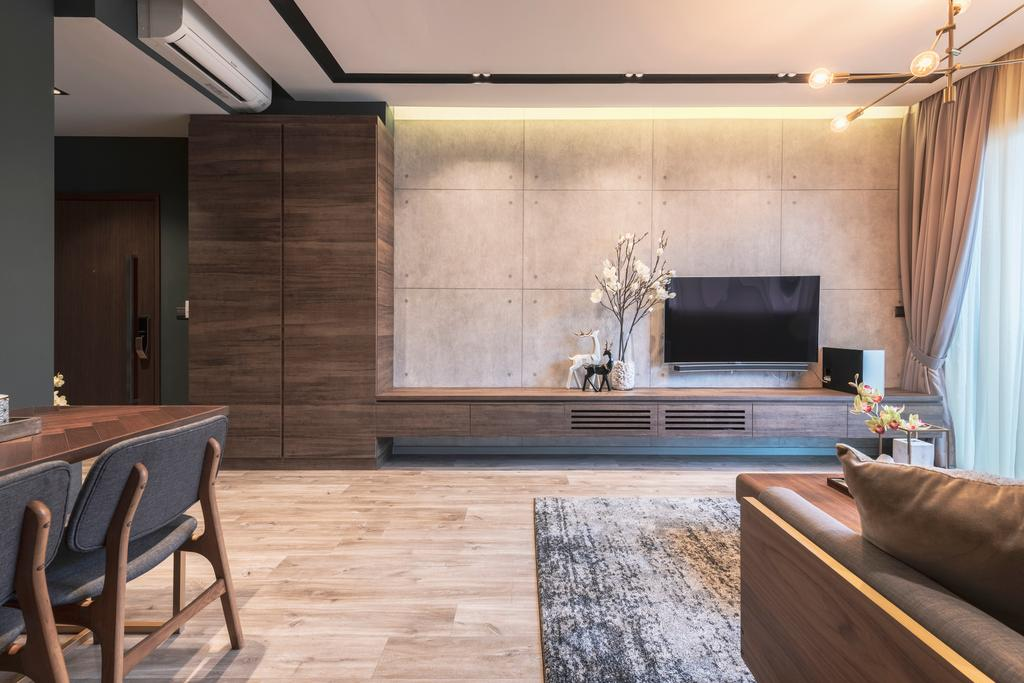 Contemporary, Condo, Living Room, Hillbre 28, Interior Designer, Space Define Interior