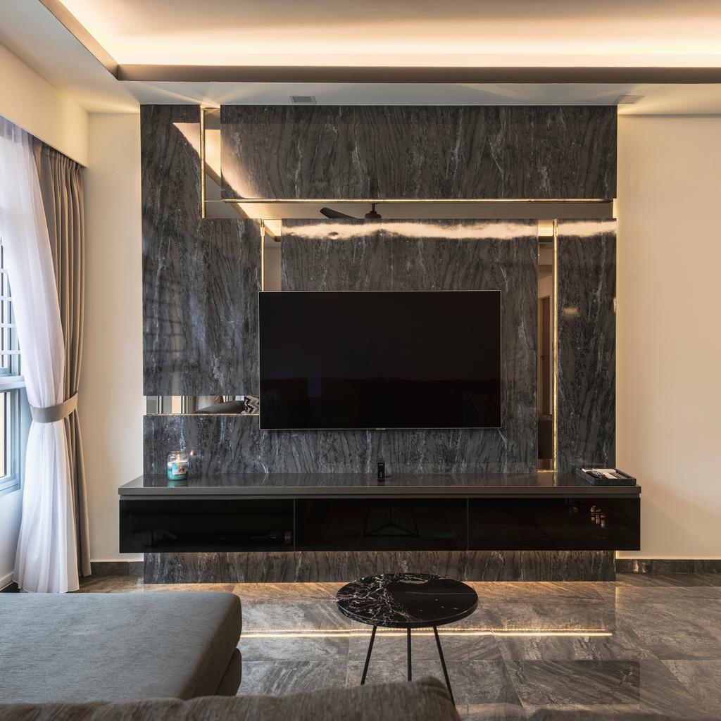 Contemporary, HDB, Living Room, Bukit Batok West Avenue 8, Interior Designer, Tab Gallery