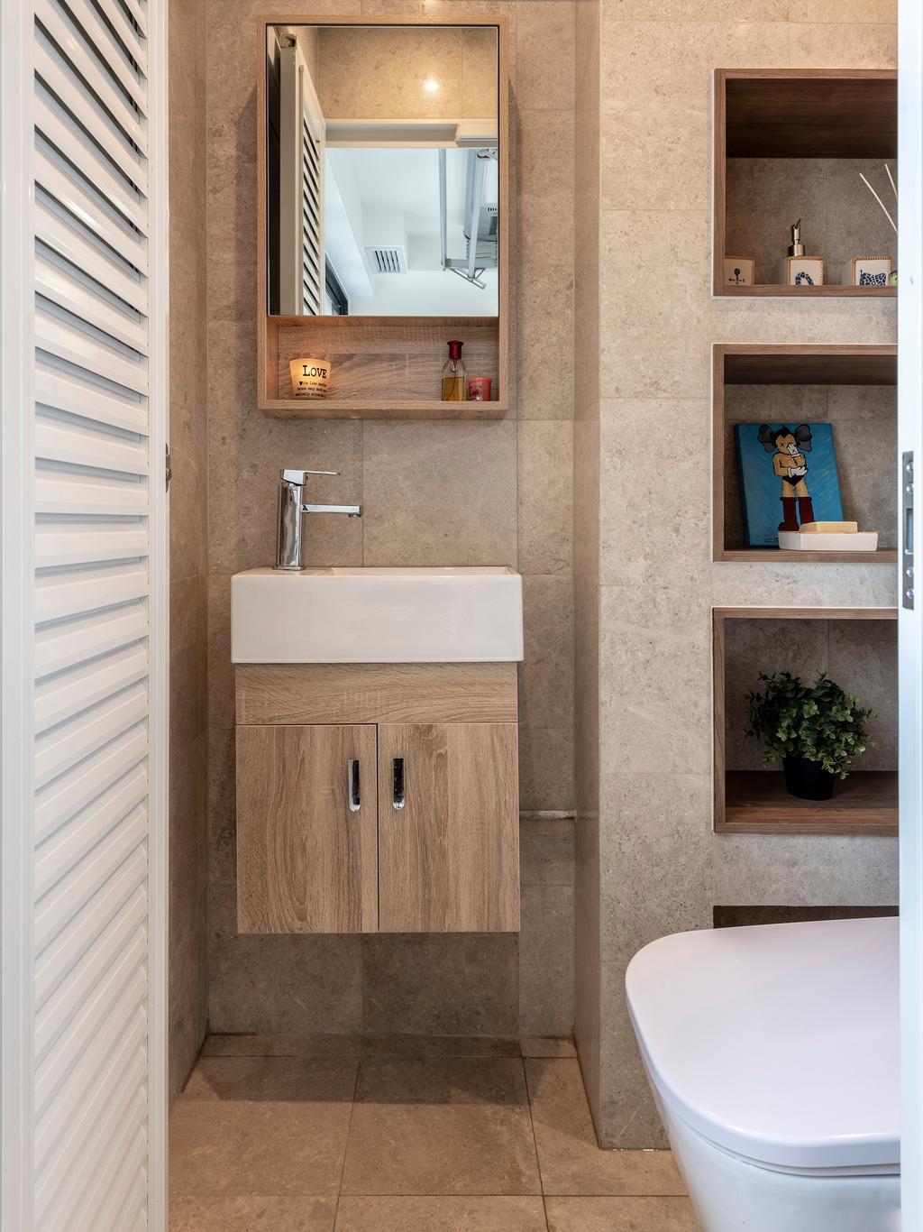 Contemporary, HDB, Bathroom, Serangoon North Avenue 1, Interior Designer, Escapade Studios