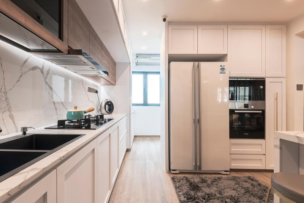 Contemporary, HDB, Kitchen, Serangoon North Avenue 1, Interior Designer, Escapade Studios