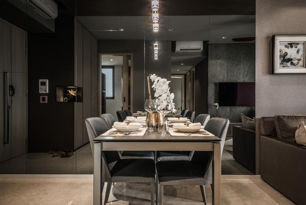 Modern, Condo, Dining Room, The Panaroma, Interior Designer, 19 Eighty Three, Contemporary