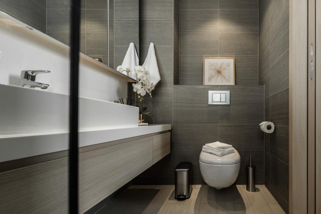 Modern, Condo, Bathroom, The Panaroma, Interior Designer, 19 Eighty Three, Contemporary