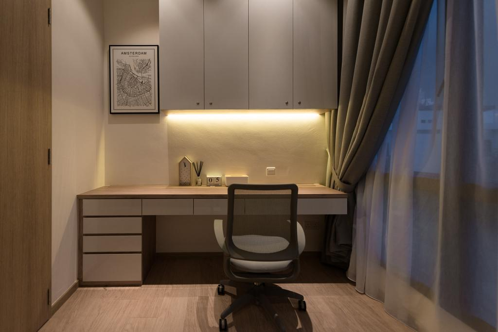 Contemporary, Condo, Study, River Place, Interior Designer, 19 Eighty Three, Modern