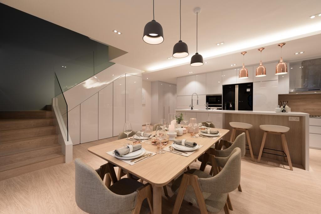 Contemporary, Condo, Dining Room, River Place, Interior Designer, 19 Eighty Three, Modern