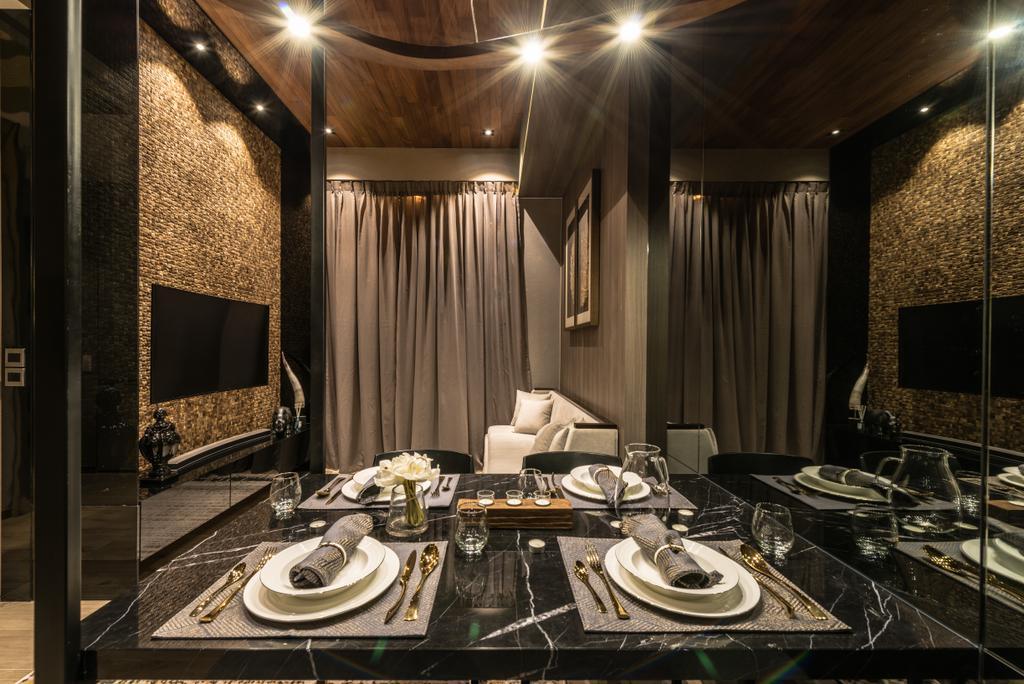 Transitional, Condo, Dining Room, The Siena, Interior Designer, 19 Eighty Three, Contemporary