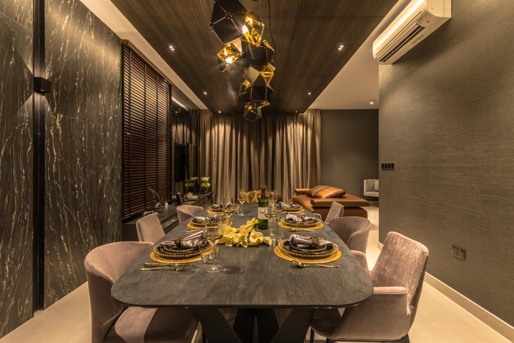Transitional, Condo, Dining Room, Jewel @ Buangkok, Interior Designer, 19 Eighty Three