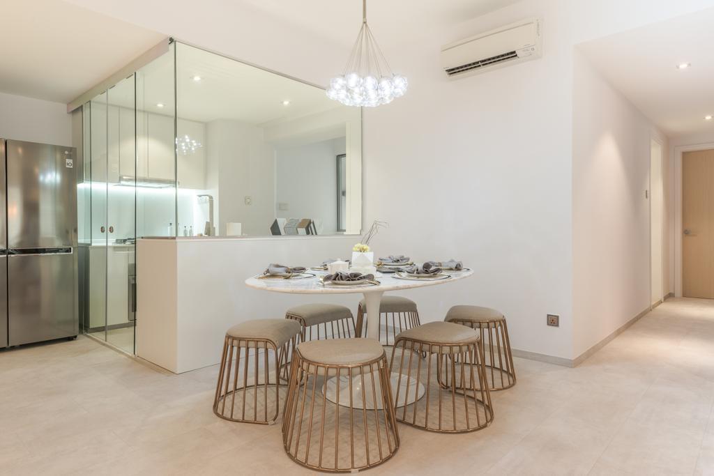 Scandinavian, Condo, Dining Room, The Florida, Interior Designer, 19 Eighty Three