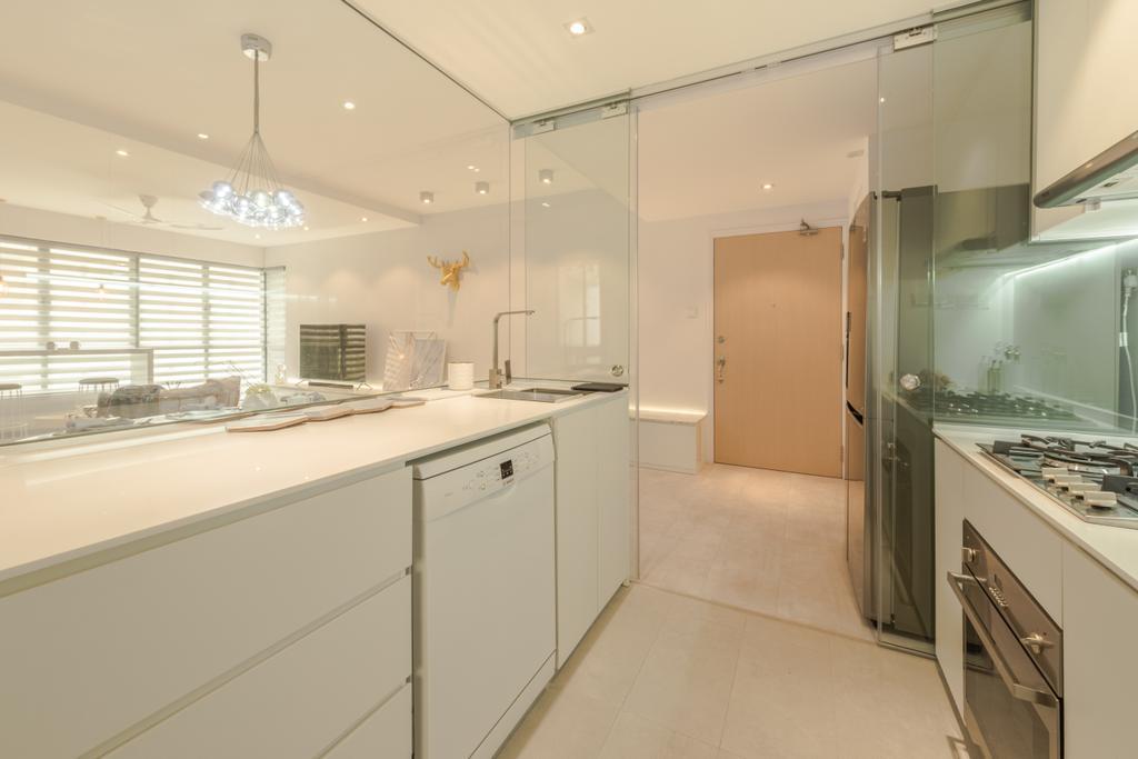 Scandinavian, Condo, Kitchen, The Florida, Interior Designer, 19 Eighty Three