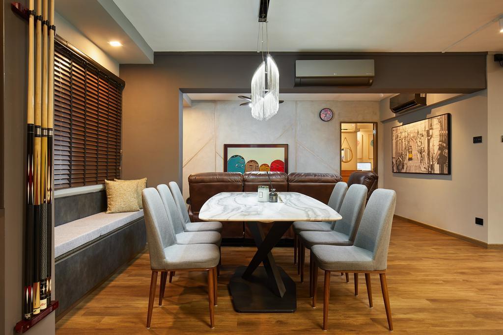 Contemporary, HDB, Dining Room, Gangsa Road, Interior Designer, The Local INN.terior 新家室