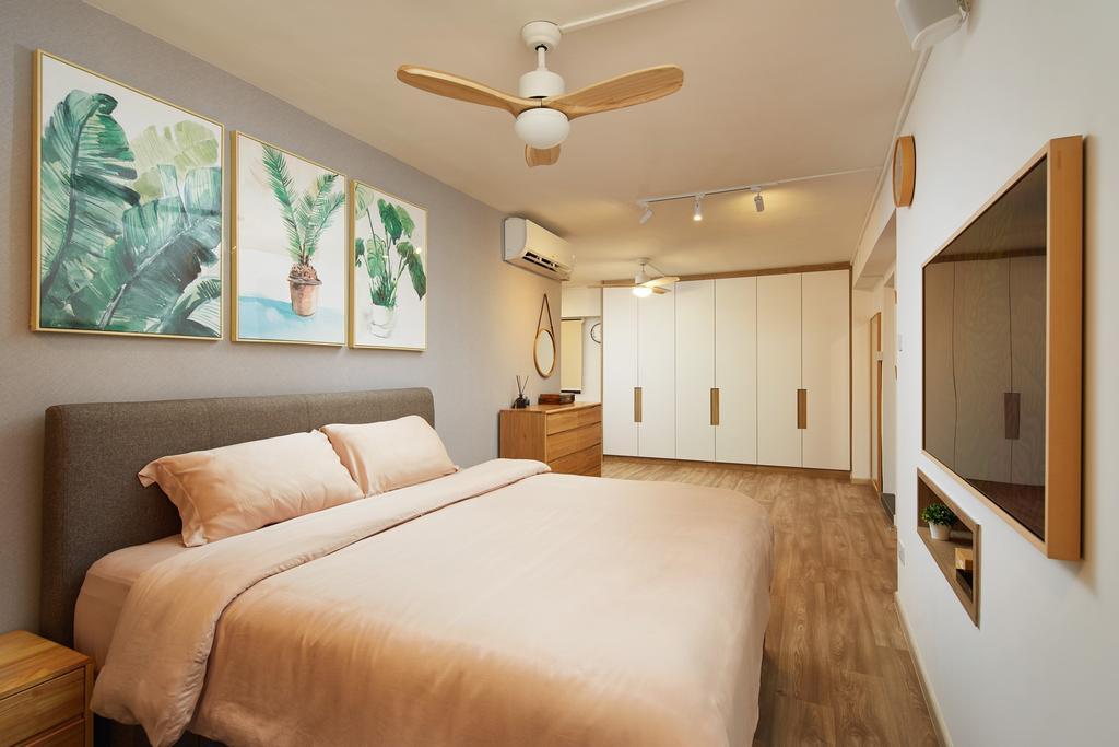 Contemporary, HDB, Bedroom, Gangsa Road, Interior Designer, The Local INN.terior 新家室