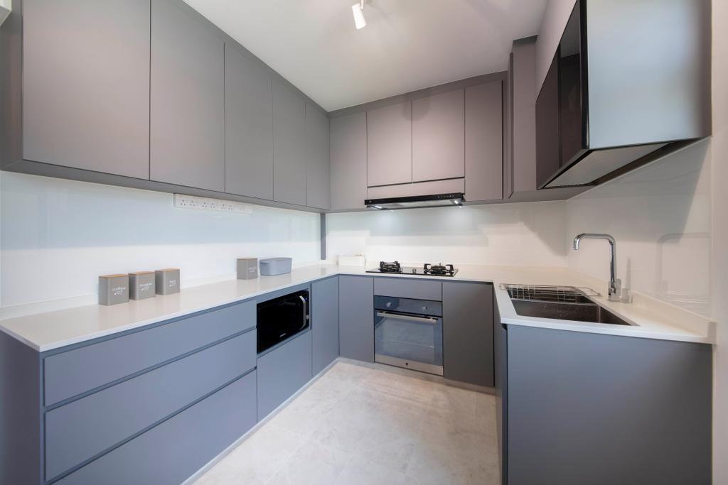 Contemporary, HDB, Kitchen, Fernvale Lane, Interior Designer, Style Living Interior