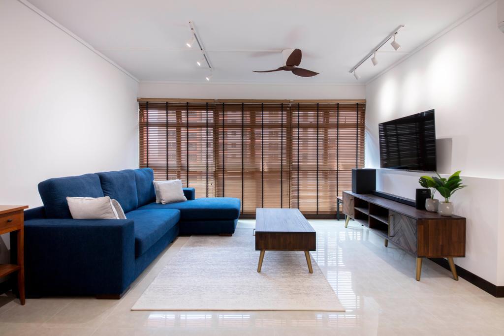 Contemporary, HDB, Living Room, Fernvale Lane, Interior Designer, Style Living Interior