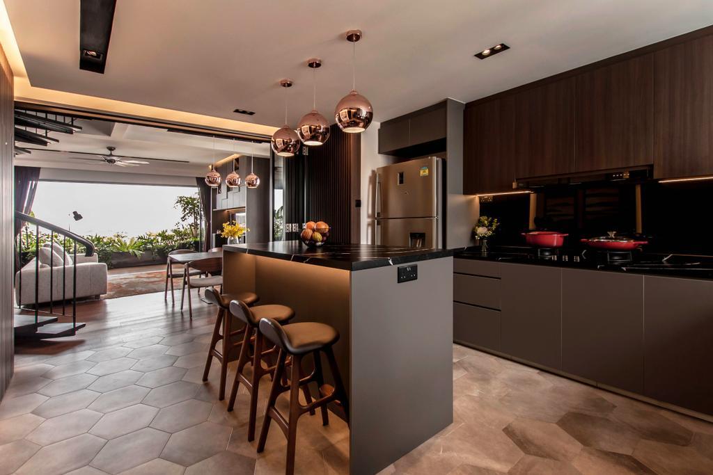Contemporary, Landed, Kitchen, Kensington Park, Interior Designer, Space Atelier, Modern