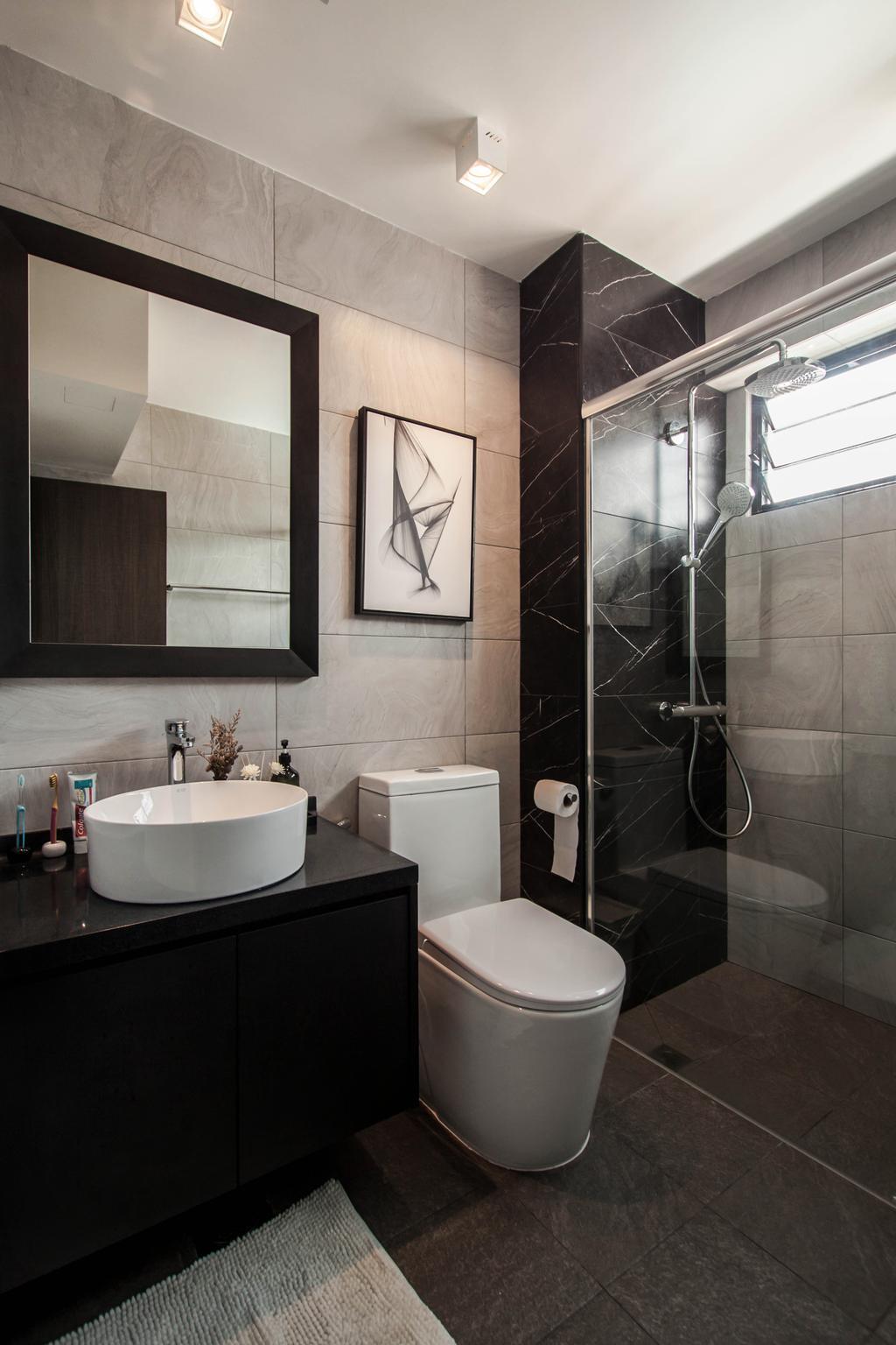 Contemporary, Landed, Bathroom, Kensington Park, Interior Designer, Space Atelier, Modern
