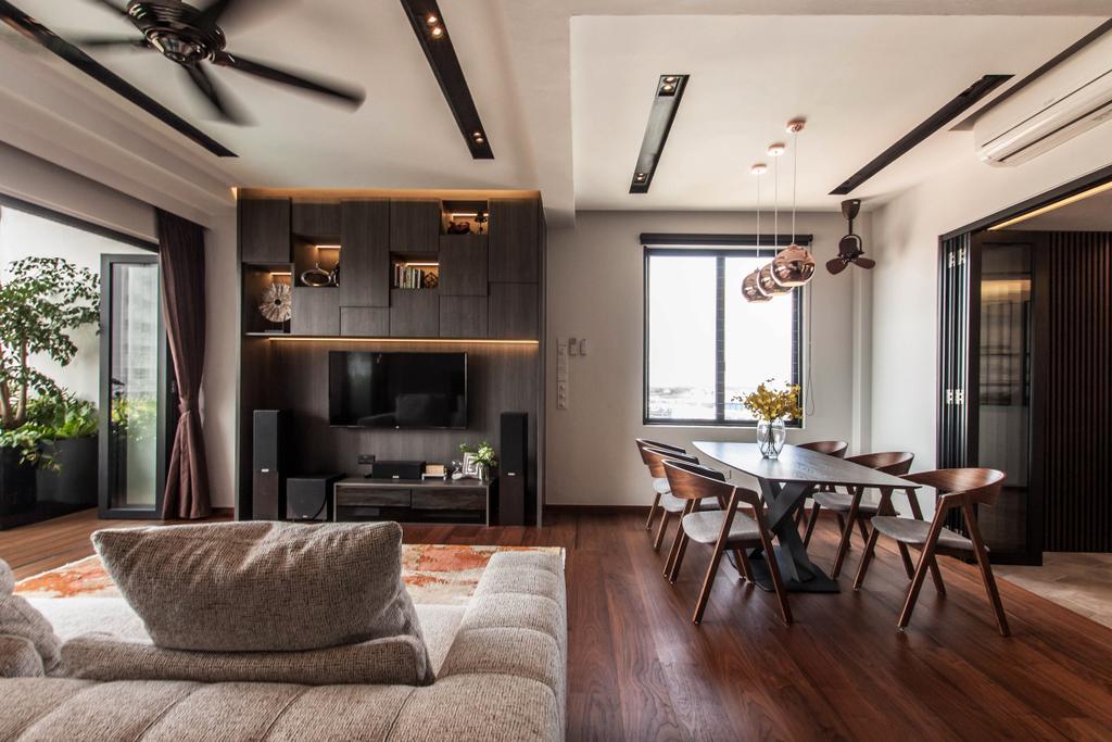 Contemporary, Landed, Living Room, Kensington Park, Interior Designer, Space Atelier, Modern