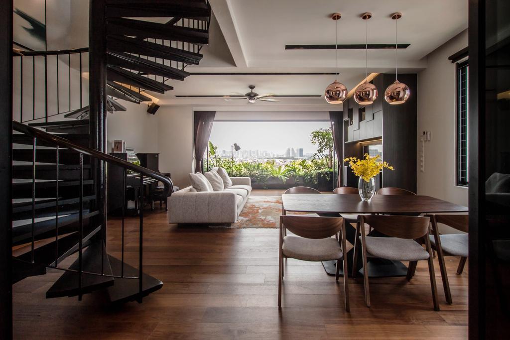 Contemporary, Landed, Dining Room, Kensington Park, Interior Designer, Space Atelier, Modern