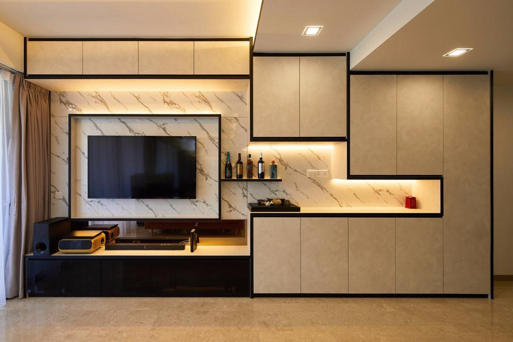 Contemporary, Condo, Living Room, Riversails, Interior Designer, 96 Designers Group