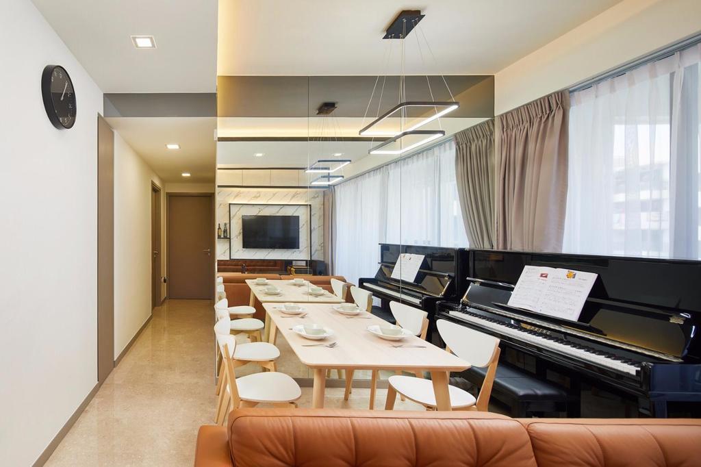 Contemporary, Condo, Dining Room, Riversails, Interior Designer, 96 Designers Group