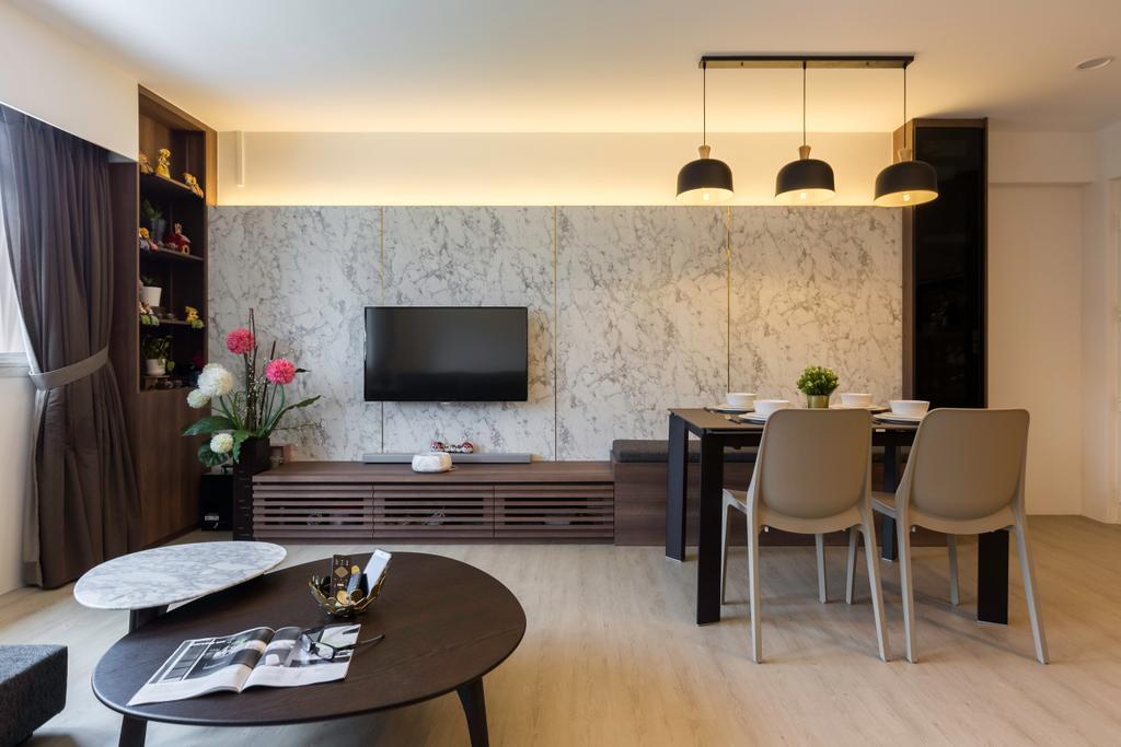 Contemporary, HDB, Living Room, Bukit Batok Central, Interior Designer, Inizio Atelier