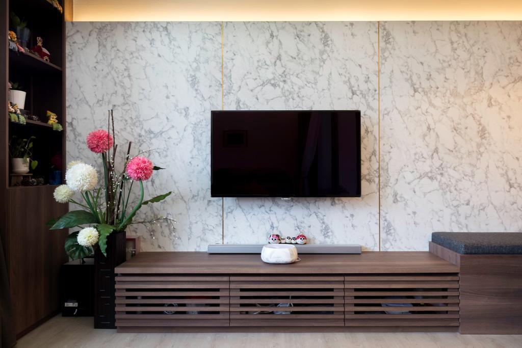Contemporary, HDB, Living Room, Bukit Batok Central, Interior Designer, Inizio Atelier